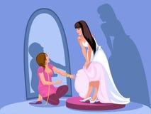 passendes Hochzeitskleid Stockfotos