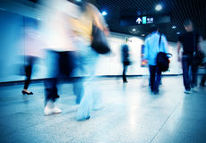 Passenger. In the subway station in shanghai china Stock Photography