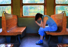 Passenger. In train, see more images on my portfolio Royalty Free Stock Photo