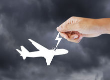 Passenger air plane crash Stock Image