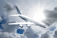 Passenger Air Plane Flying Stock Photography