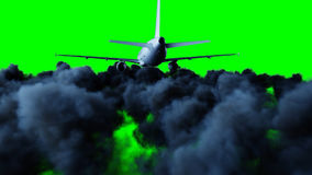 Passenger airbus flying in the clouds. Travel concept. 3d rendering. Passenger airbus flying in the clouds. Travel concept. 3d rendering Royalty Free Stock Photo