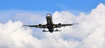 Passenger aircaft landing Royalty Free Stock Image