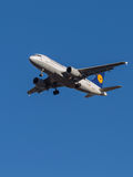 Passenger aircraft Airbus A319, airlines Lufthansa Royalty Free Stock Images