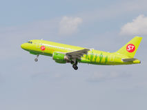 Passenger aircraft Airbus A319-114 S7 Airlines Royalty Free Stock Photos