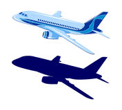 Passenger aircraft, airplane, vector Royalty Free Stock Photo