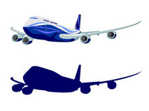 Passenger aircraft, airplane, vector Royalty Free Stock Photos