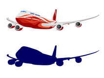 Passenger aircraft, airplane, vector Royalty Free Stock Images