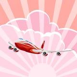 Passenger aircraft, airplane, vector Royalty Free Stock Photos