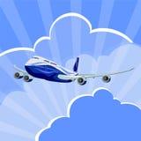 Passenger aircraft, airplane, vector Stock Photo