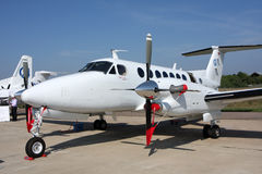 Passenger aircraft  Beechcraft King Air. Stock Images