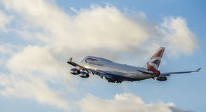 Passenger Aircraft in British Airways Livery. Boeing 747 Jumbo J Stock Photo