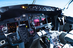 Passenger Aircraft Cockpit Stock Images