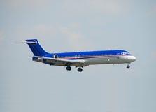 Passenger aircraft in flight Royalty Free Stock Photos