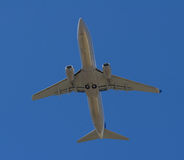 Passenger aircraft in flight stock images