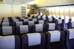 Passenger Aircraft Interior Royalty Free Stock Images