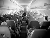 Passenger aircraft interior Royalty Free Stock Image