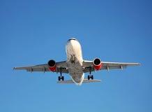 Passenger aircraft landing Stock Photos