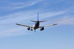 Passenger aircraft landing Royalty Free Stock Photos