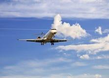 Passenger aircraft landing Stock Image