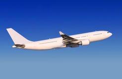Passenger aircraft is landing stock photo