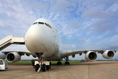 Passenger aircraft A 380 Royalty Free Stock Photography