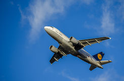 Passenger Aircraft in Lufthansa Livery. Airbus A319 Royalty Free Stock Images