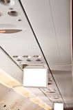 Passenger aircraft and screen Royalty Free Stock Photo