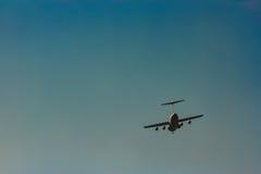 Passenger aircraft in the sky Stock Photos