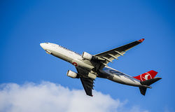 Passenger Aircraft in Turkish Airlines Livery. Airbus A330 Royalty Free Stock Photography