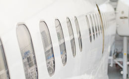 Passenger aircraft windows. Stock Photography