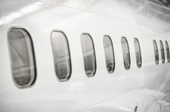 Passenger aircraft windows. Stock Images