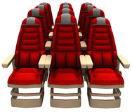 Passenger Airline Jet Seats Illustration Stock Photo