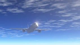 Passenger airliner flight stock video