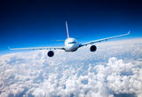 Passenger Airliner in the sky Royalty Free Stock Images