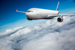 Passenger Airliner in the sky Royalty Free Stock Photo