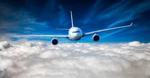 Passenger Airliner in the sky Stock Photography