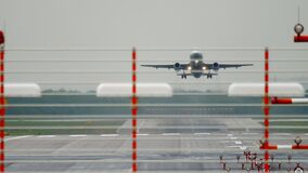 Passenger airliner takes off