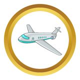 Passenger airliner vector icon Royalty Free Stock Image