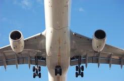 Passenger Airplane. Airplane landing in Toronto royalty free stock images
