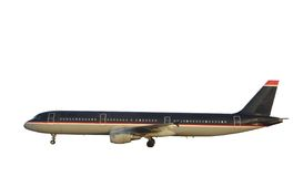 Passenger Airplane. Modern Jet. Isolated, Clipping Path included stock photography