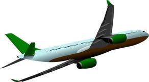 Passenger airplane in flight Stock Image