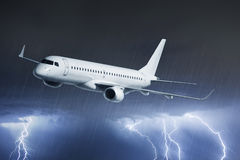 Passenger airplane on Stock Images