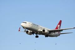 Passenger airplane going to landing Royalty Free Stock Photo
