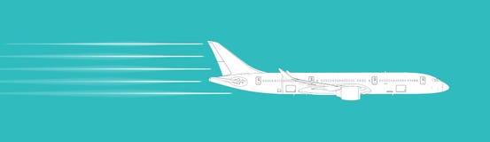 Passenger airplane illustration Royalty Free Stock Photo