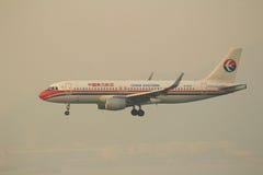 Passenger airplane landing Royalty Free Stock Photography