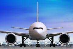 Passenger airplane at modern airport Royalty Free Stock Photos