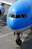 Passenger airplane nose Stock Photo