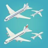 Passenger Airplane. Passenger Airliner. Isometric Airplane Stock Photography