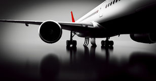 Passenger airplane in studio or hangar. Aircraft, airline Royalty Free Stock Photo